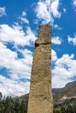 Tello Obelisk bei Chavin de Huantar stockbild