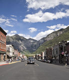 Telluride. An old mining town and now famous ski and snowboarding resort in the Rocky Mountains, Colorado, America is listed on the National Register of Royalty Free Stock Photography