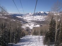 Telluride from above  in winter Stock Photography