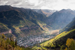 Telluride, Colorado. From above the town Stock Photo