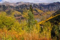 Telluride, Colorado aerial view Stock Photos