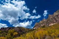 Telluride Colorado för nedgånglövverk Royaltyfria Foton