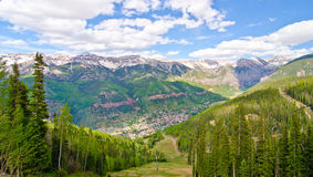 Telluride, Colorado, the Most Beautiful City in the USA.  Royalty Free Stock Photo