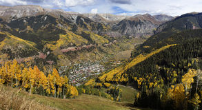 Telluride in the Fall Royalty Free Stock Image
