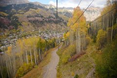Telluride. With fall foliage Stock Photo