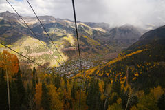 Telluride. With fall foliage Stock Photos