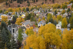 Telluride. With fall foliage Stock Images