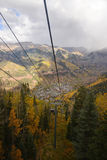 Telluride. With fall foliage Royalty Free Stock Image
