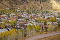 Telluride. With fall foliage Royalty Free Stock Photos