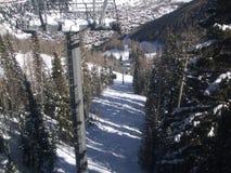 Telluride od above w zimie Zdjęcia Royalty Free