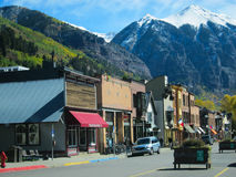 Telluride. View of Telluride with mountains in colorado Stock Photos