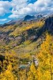 Telluridenedgången färgar det Colorado landskapet Royaltyfri Foto