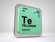 Tellurium - Te - chemical element periodic table. 3d render Royalty Free Stock Images