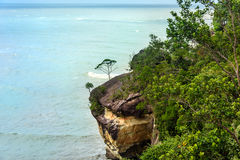 Telok padan kecil Cliff in Bako National Park Stock Photos