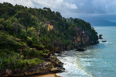 Telok padan kecil Cliff in Bako National Park Royalty Free Stock Photography