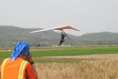 Telomoyo悬挂式滑翔冠军2015年 免版税库存照片