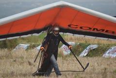 Telomoyo悬挂式滑翔冠军2015年 免版税图库摄影