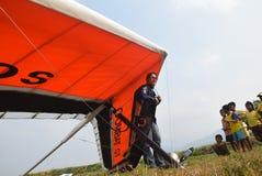 Telomoyo悬挂式滑翔冠军2015年 库存图片