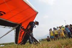 Telomoyo悬挂式滑翔冠军2015年 免版税库存图片