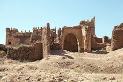 Telouet ancient kasbah ruins Stock Photography