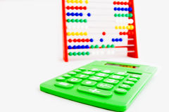 Telraam en een calculator Royalty-vrije Stock Afbeelding