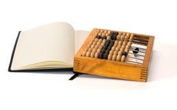 Telraam en notitieboekje. royalty-vrije stock foto