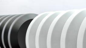 Telraam witte en zwarte 3d illustratie Stock Fotografie
