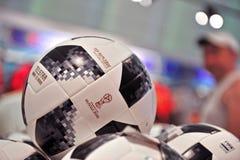 Telstar, offizielle Fußball-Weltmeisterschaft Russland 2018 Bälle Lizenzfreie Stockfotografie