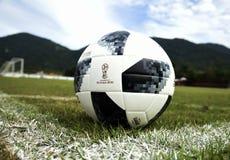 Telstar, soccer ball. Rio de Janeiro - Brazil,  Telstar, soccer ball to be used in the soccer world cup in Russia 2018 Stock Image