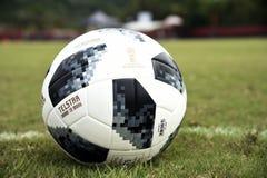 Telstar, soccer ball. Rio de Janeiro - Brazil,  Telstar, soccer ball to be used in the soccer world cup in Russia 2018 Stock Photos