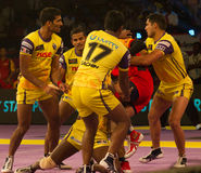 Telugu Titans defence Stock Images
