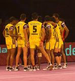 Telugu Titans Huddle Royalty Free Stock Photos