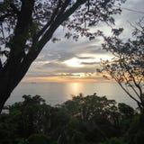 Teluk Bayur solnedgång Arkivbild