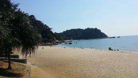 TELUK CHEMPEDAK海滩,关丹,彭亨,马来西亚 免版税图库摄影