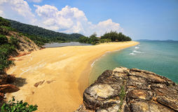 Teluk Gadung strand royaltyfri fotografi