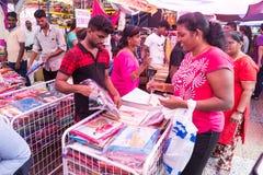 TELUK INTAN, MALASIA, el 1 de mayo de 2018: Marca india malasia étnica foto de archivo