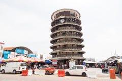 TELUK INTAN, MALASIA, el 1 de mayo de 2018: Menara Condong o el inclinarse a fotografía de archivo libre de regalías