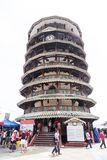 TELUK INTAN, MALAYSIA, May 1, 2018: Menara Condong or Leaning To. Wer of Teluk Intan is a popular tourist attraction. It is a clock tower with 8 floors and stock image