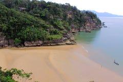 Teluk Pandan Kecil nel parco nazionale di Bako immagini stock