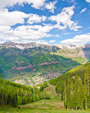 Telururo, Colorado, la ciudad más hermosa de los E.E.U.U. fotos de archivo libres de regalías