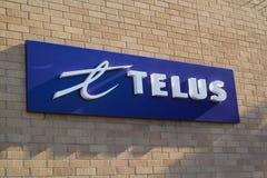Telus标志 免版税库存图片