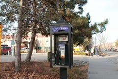 Telus Payphone. City phone retro communication Stock Images