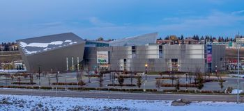 Telusvonk in Calgary, Alberta stock afbeelding