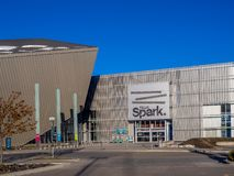 Telusvonk in Calgary, Alberta stock fotografie