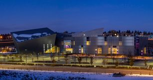 Telusvonk in Calgary, Alberta stock foto
