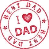 Temático gráfico do melhor selo do paizinho para o dia do ` s do pai Imagens de Stock Royalty Free