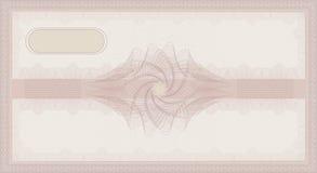 Tem color de rosa del certificado de la cupón del color de rosa del guilloquis del vale Imagen de archivo libre de regalías