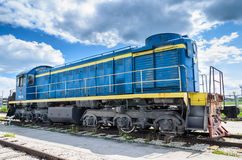 TEM2 diesel-electric locomotive manufactured by the Kharkov Transport Machinery plant Royalty Free Stock Photography