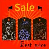 Tema Πde los iconos de la venta Imagen de archivo
