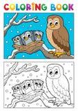 Tema 1 del búho del libro de colorear libre illustration